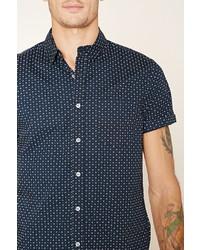 Forever 21 Abstract Polka Dot Shirt