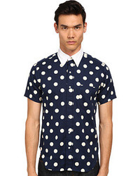 Mark McNairy New Amsterdam Short Sleeve Polka Dot Button Down Short Sleeve Button Up