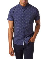 7 Diamonds Slow Blues Slim Fit Sport Shirt