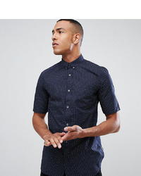 French Connection Tall Navy Dot Shirt