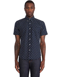 United Stock Dry Goods Large Polka Dot Button Down