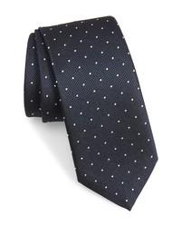 BOSS Dot Print Silk Tie