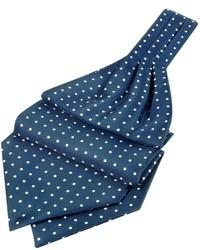 Polkadot printed twill silk ascot medium 24008