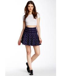 Navy and White Polka Dot Skater Skirt