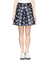 Dot stripe chintz jacquard skater skirt medium 174202
