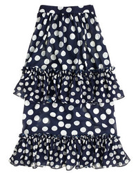 J.Crew Juan Carlos Obando For Magdelena Skirt In Polka Dot
