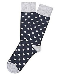 Etiquette Clothiers Polka Dot Vintage Blue Heather