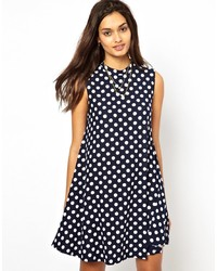 Glamorous Swing Dress In Polka Spot