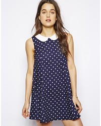 Influence Polka Dot Collared Dress