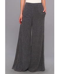 Badgley Mischka Polka Dot Chiffon Pant