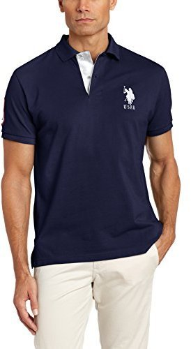 U S Polo Assn Short Sleeve Polo Shirt With Applique 46 Amazon