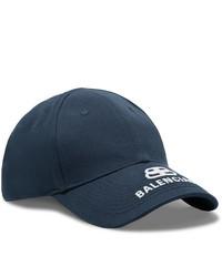 Balenciaga Logo Embroidered Cotton Twill Baseball Cap