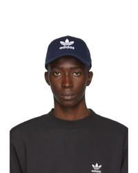 adidas Originals Navy And White Trefoil Cap