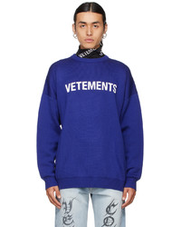 Vetements Blue Logo Sweater