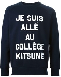 Maison kitsun quote print sweatshirt medium 308891