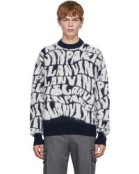 Lanvin Navy Logo Sweater