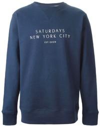 Saturdays surf nyc logo print sweatshirt medium 308877