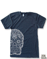 American Apparel Day Of The Dead 2 Screen Printed T Shirt S M L Xl 2xl
