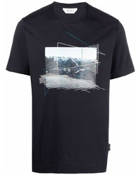 Z Zegna Graphic Print Cotton T Shirt