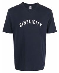 Eleventy Logo Print Cotton T Shirt