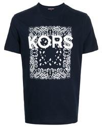Michael Kors Michl Kors Paisley Logo Printed T Shirt