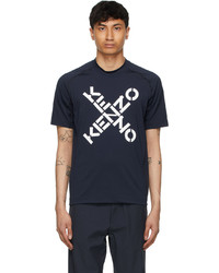 Kenzo Navy Slim Fit Sport Short Sleeve T Shirt