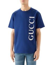 Gucci Vertical Logo Oversize T Shirt