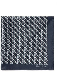 Paul Smith Basket Geo Print Silk Pocket Square