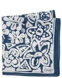 Drakes Drakes Batik Floral Handkerchief