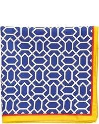 Barneys New York Geometric Print Pocket Square