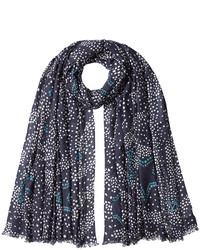 Dot print scarf with cashmere medium 874053