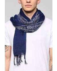 Urban Outfitters Midnight Bandana Fringe Scarf