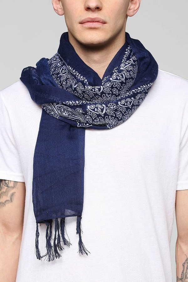 outfitters midnight bandana fringe scarf where to