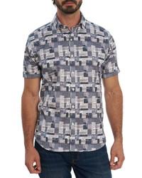 Robert Graham Dream Big Print Short Sleeve Button Up Shirt