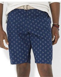Polo Ralph Lauren Big And Tall Flat Front Anchor Print Shorts