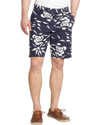 French Connection Blue And White Floral Cotton Shorts