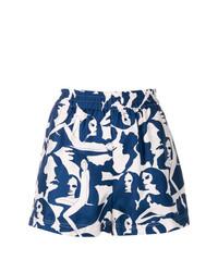 La Doublej Patterned Shorts