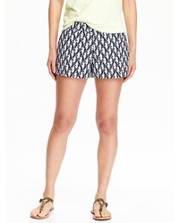 Printed twill shorts medium 309278