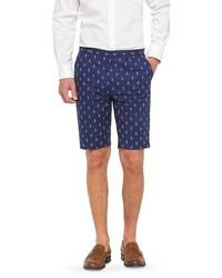 WD.NY Wdny Black Anchor Print Shorts Navy Wdny Black