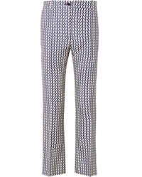 Valentino Printed Wool And Flared Pants