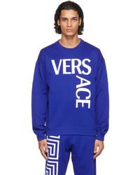 Versace Blue Logo Sweatshirt