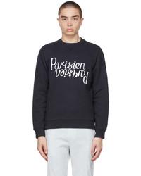MAISON KITSUNÉ Navy Parisien Mirror Sweatshirt