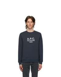 A.P.C. Navy Rufus Sweatshirt