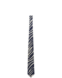 Blue Blue Japan Navy And White Bassen Tie