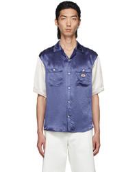 Gucci Blue Interlocking G Bowling Short Sleeve Shirt