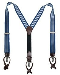 Navy and White Suspenders