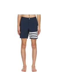 Thom Browne Navy 4 Bar Swim Shorts