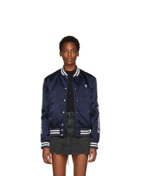 Navy and White Varsity Jacket