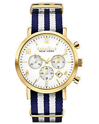 Caravelle new york caravelle new york striped nylon strap chronograph watch medium 237834