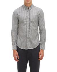Gitman vintage vertical stripe oxford cloth shirt medium 92654